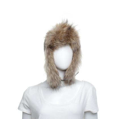 Yves Salomon Hat with fur trim