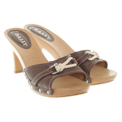 Bally Sandals made of wood