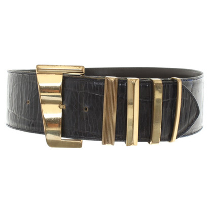 Versace Belt in dark blue