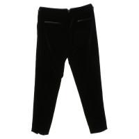 Escada Pantaloni di velluto nero