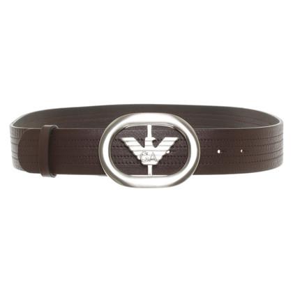 Giorgio Armani Brown leather belt