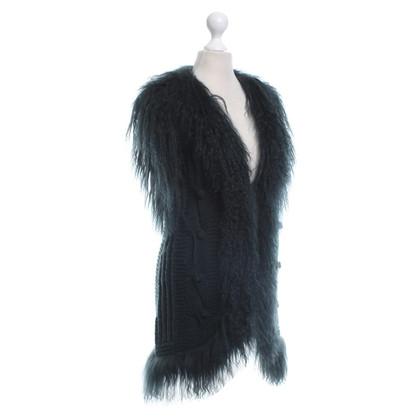 Ermanno Scervino Knitted vest in dark green