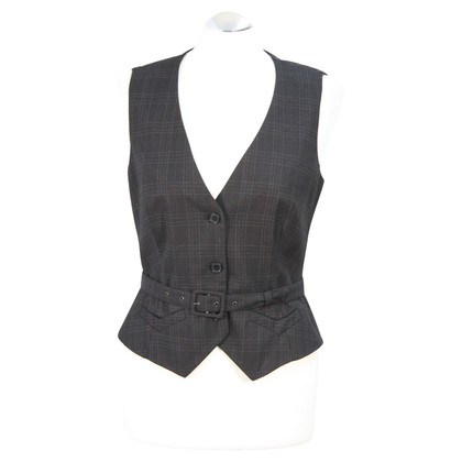 French Connection Checkered vest