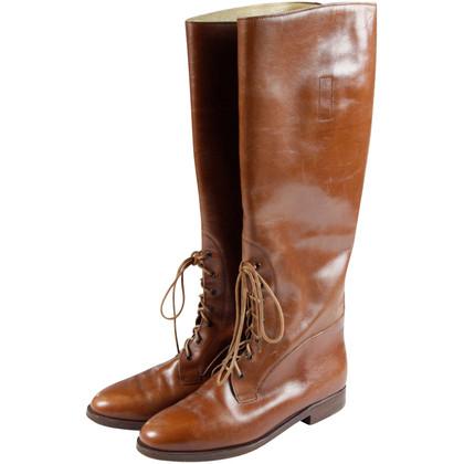 Ralph Lauren Cognac stivali con lacci