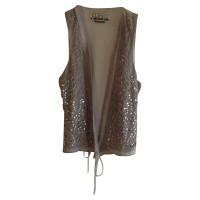 Closed Vest with semi-precious stones