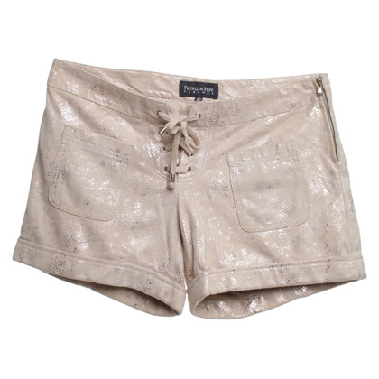 Patrizia Pepe Wild leather shorts in beige