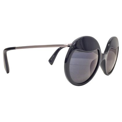 Yohji Yamamoto Schwarze Sonnenbrille