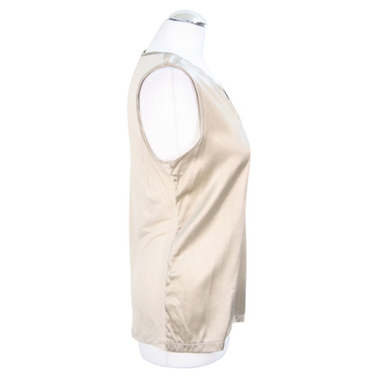 Reiss Silk top in beige