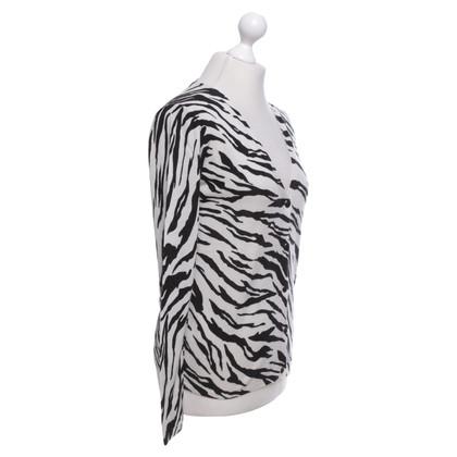 Max Mara Strickjacke mit Zebra-Muster