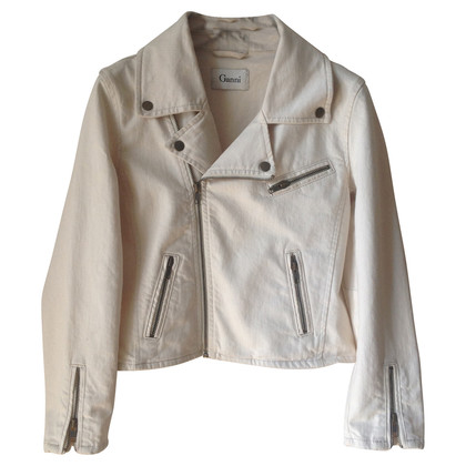 Ganni Cotton biker jacket