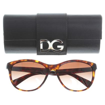 Dolce & Gabbana Sportliche Schildpatt-Sonnenbrille
