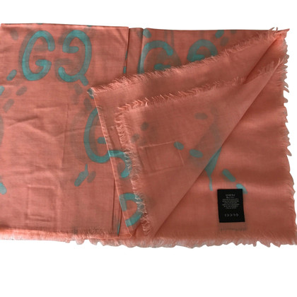 Gucci Ghost Scarf Pink/Blue