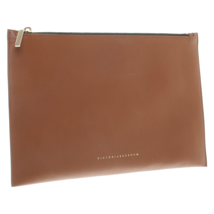 Victoria Beckham clutch in brown