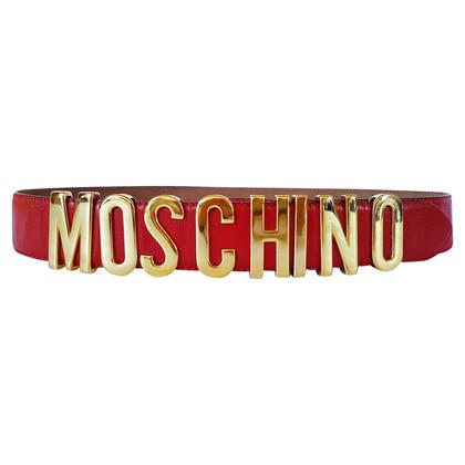 Moschino Red logo belt