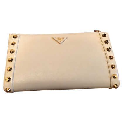 Prada clutch con rivetto
