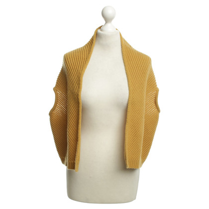 Max Mara Strickweste in curry giallo