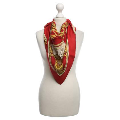 """Hermès Seidencarré """"A L'Auberge du cheval blanc"""""""