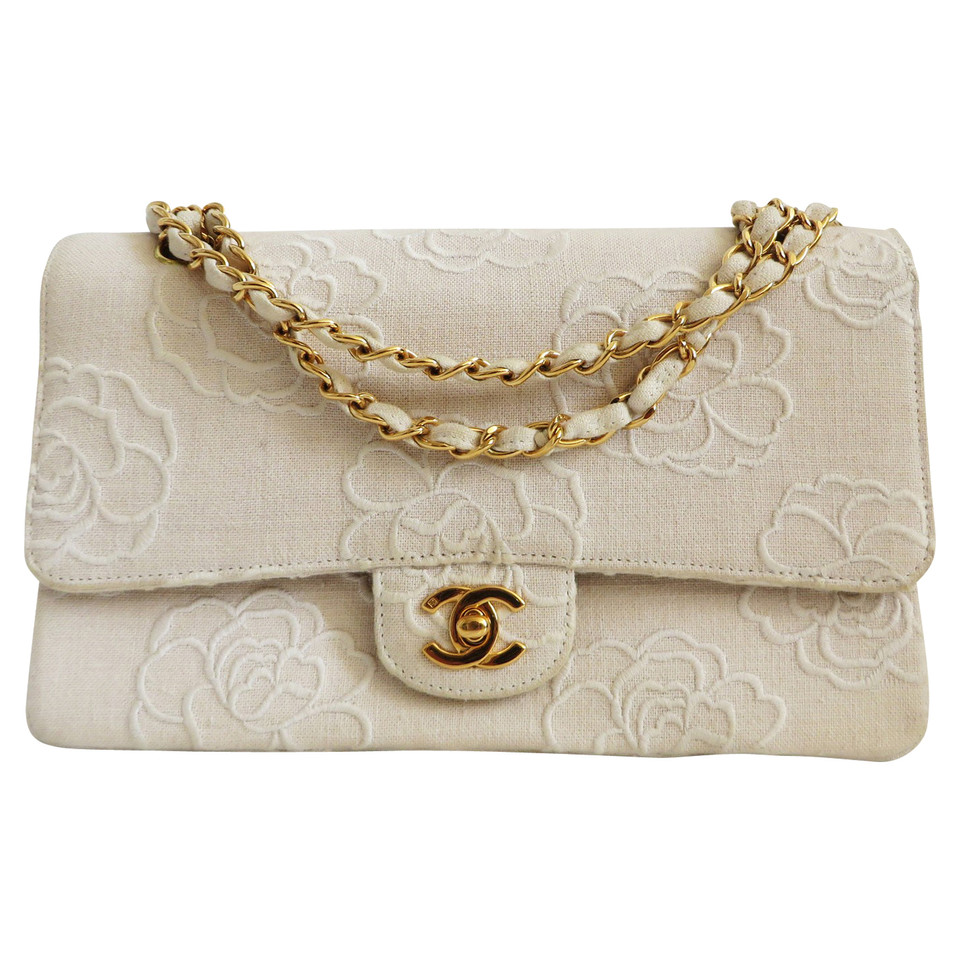 chanel quotclassic flap bag mediumquot with camellia embroidery