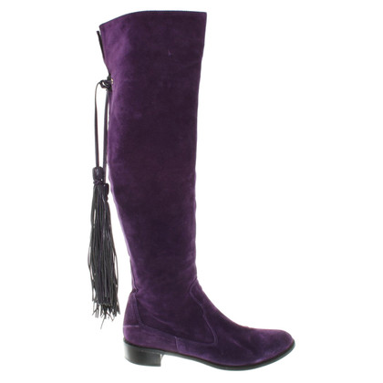 Russell & Bromley Wild leather boots in violet