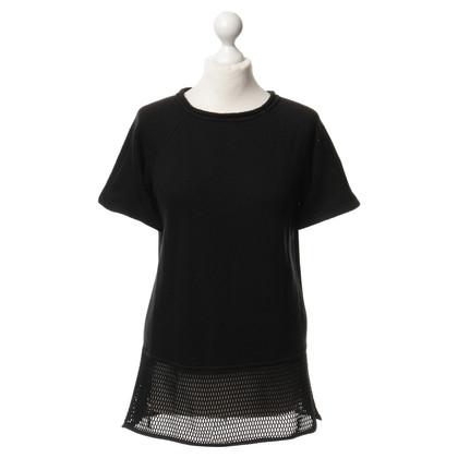T by Alexander Wang T-Shirt mit Netz-Detail