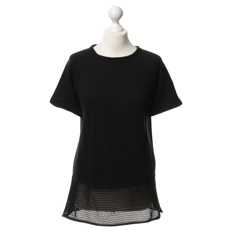t by alexander wang t shirt mit netz detail second hand. Black Bedroom Furniture Sets. Home Design Ideas