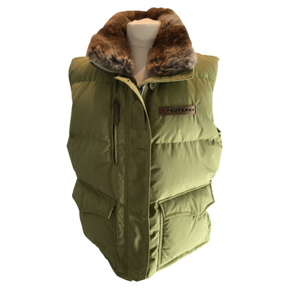 Peuterey gilet con collo in pelliccia di Down
