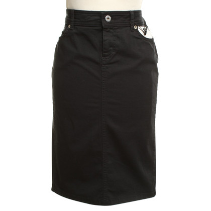 D&G High denim skirt in black