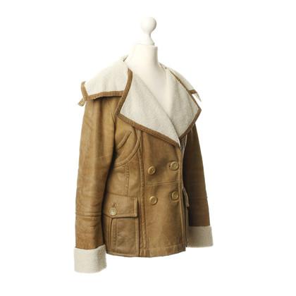 Marc Cain Leather jacket with Sheepskin lining