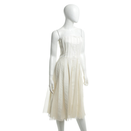 Jil Sander Strapless dress with box pleats