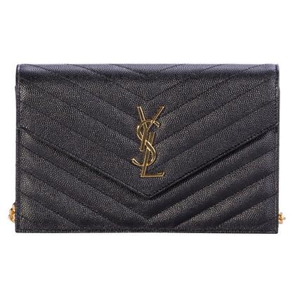 """Yves Saint Laurent """"Classic Monogram clutch"""" in zwart"""