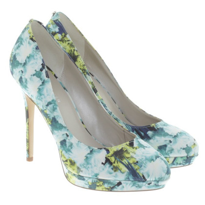 Karen Millen pumps with a floral pattern
