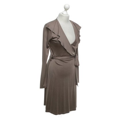 Allude Silk dress in taupe