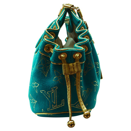 "Louis Vuitton ""Theda PM Suede Turquoise"""