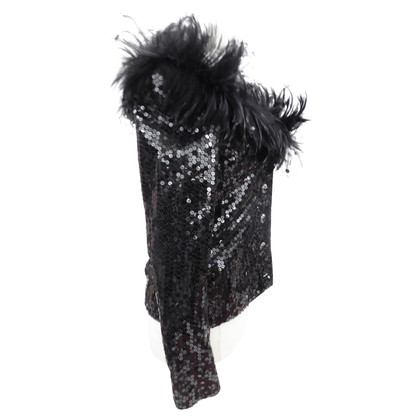 Yves Saint Laurent Sequin jacket with feather edge