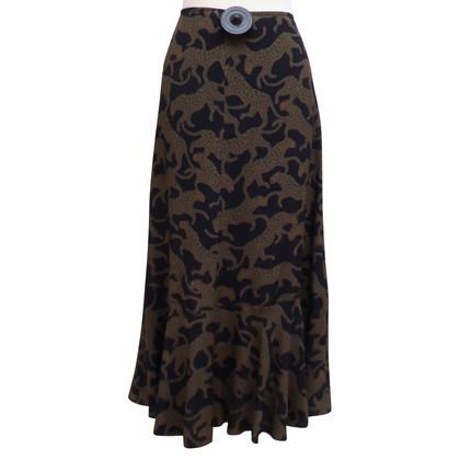 Dries van Noten Silk bell skirt