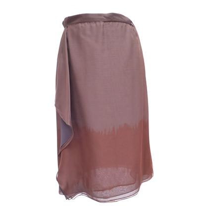 Giorgio Armani Silk skirt with winding effect