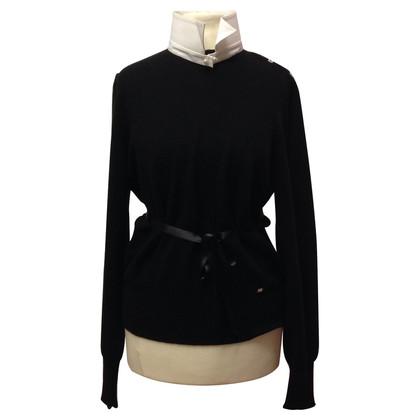 Chanel Trui met blouse elementen
