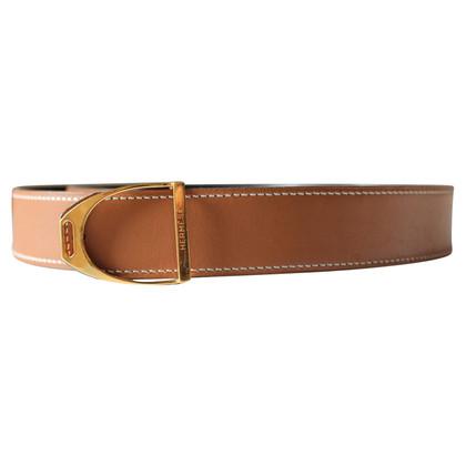 Hermès Reversible Belt beige / zwart