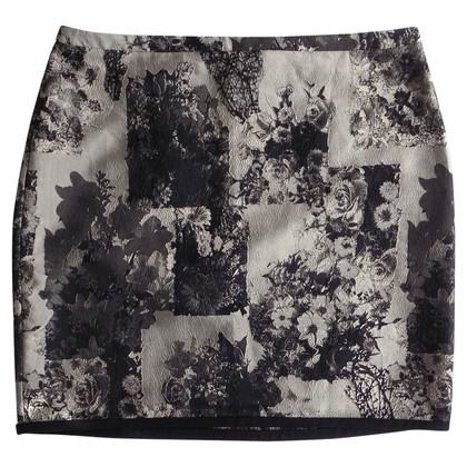 Marc Cain Jacquard-skirt with floral print