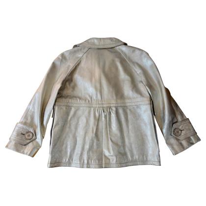 Burberry Metallic Leren jacket