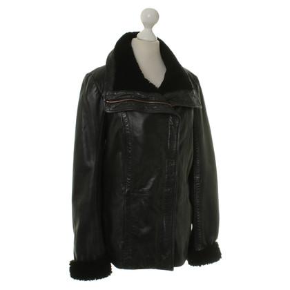 Ted Baker Leather jacket in black