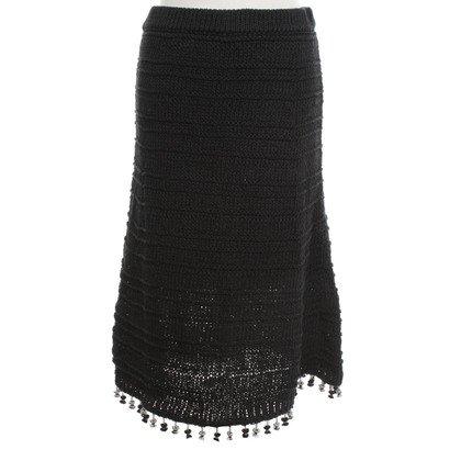 Derek Lam Knit skirt in dark blue