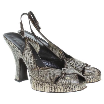 Prada Peep-toes reptile leather