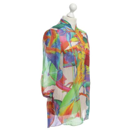 St. Emile Silk blouse in multi color