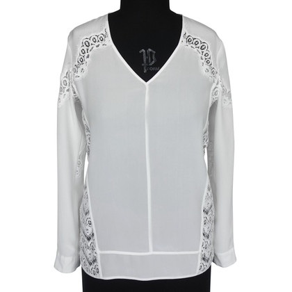 The Kooples Zijden blouse in crème wit