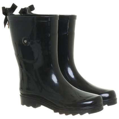 Manoush Rubber boots with flower trim