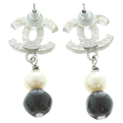 Chanel Logo motief Stud Earrings