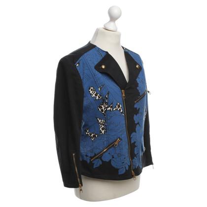 Louis Vuitton giacca biker con Motif Stampa