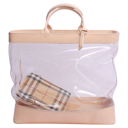Burberry Shopper with transparent insert