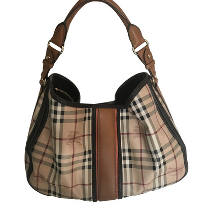 Burberry shoulder bag with leather inserts